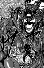 Toriko and Starjun auras clash
