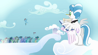 Filly Rainbow Dash jumps from the crowd S03E12