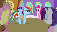 "Rainbow Dash ""they've had enough bad news"" S03E12"
