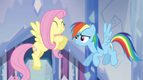 Fluttershy and Rainbow Dash &quot;she&#39;s so nice!&quot; S03E12