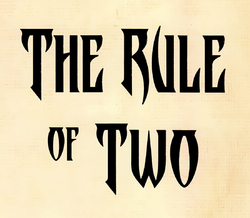 Rule of Two flyleaf