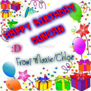 Happy Birthday Duncan! =D
