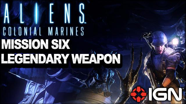 Aliens Colonial Marines - Vasquez's Smart Gun Legendary Weapon - Mission 5 The Raven - Walkthrough