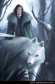 Jon snow by claudio cerri
