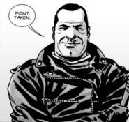 Issue 107 Negan Happy