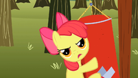 Apple Bloom on the punchbag S2E15