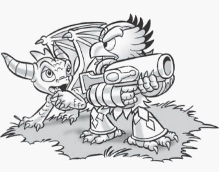 skylanders thumpback coloring pages jet vac portal masters of
