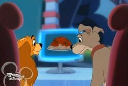 Lady and Tramp order spaghetti