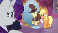 Applejack embarrassed by her dress S03E13.png
