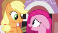 Applejack and Pinkie Pie smiling S03E13.png