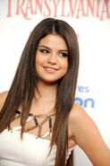 Selena at the Hotel Transylvania premiere
