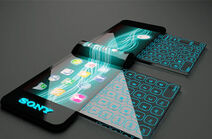 Holographic-projector-phone