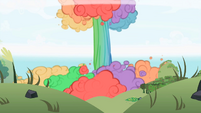 Rainbow Dash causes a big explosion S2E03