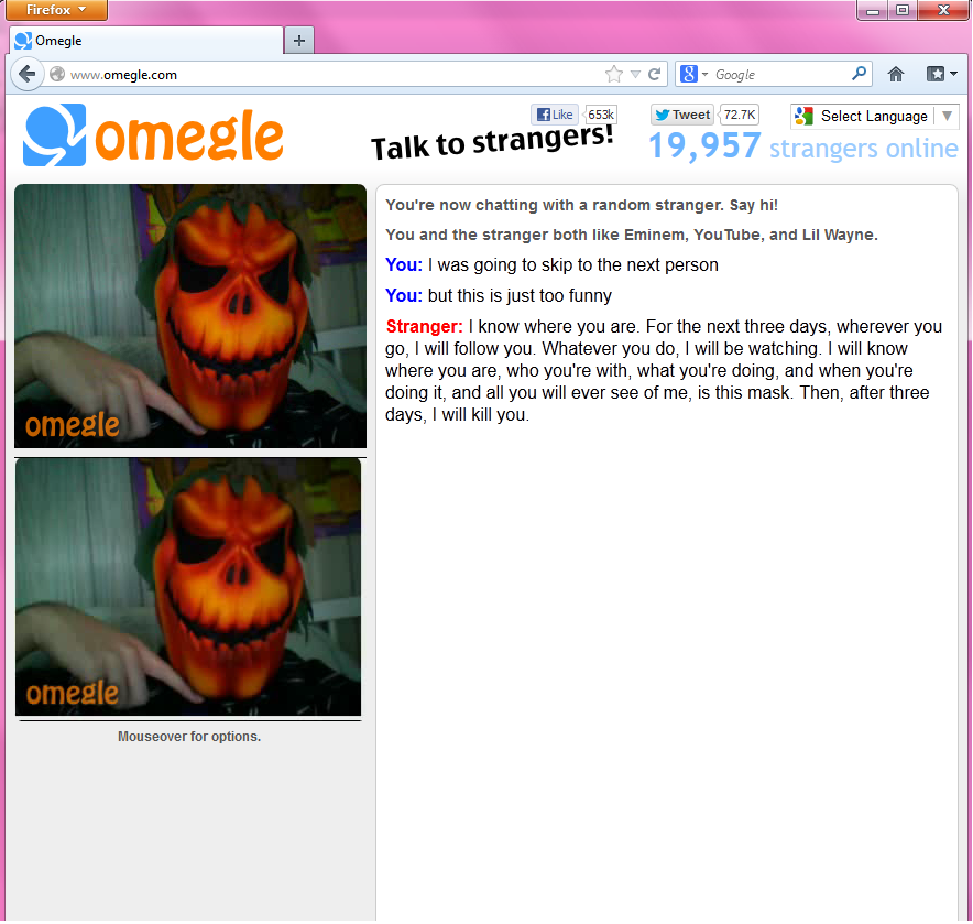 how to make points game omegle
