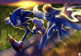 Sonic vs Rainbow Dash by RannyLK