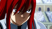 Erza threatens Sabertooth