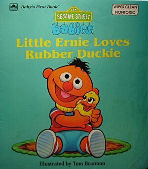 Little ernie loves rubber duckie