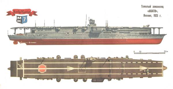 "Японский тяжёлый авианосец  ""Akagi "", 1944 г."