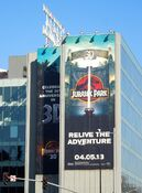 JurassicPark 3D movie billboard