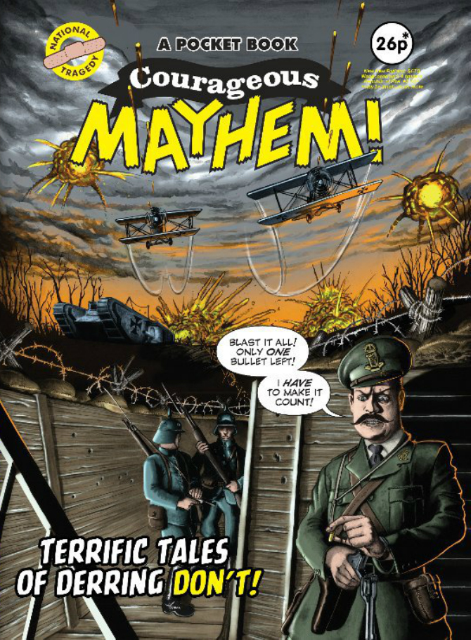 Courageous Mayhem cover art by Archie Templar