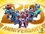 Mega man 25th anniversary wallpaper