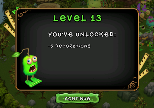 My Singing Monsters Levels