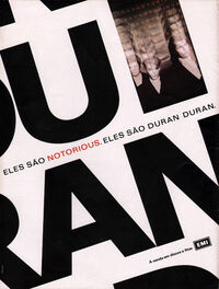 NOTORIOUS ADVERT DURAN DURAN