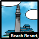 Beach resort icon