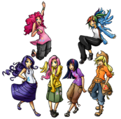Mane6 Humanized by UnregisteredWaffle
