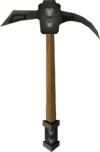 Iron pickaxe detail