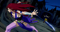 Erza breaks through Midnight&#39;s illusion