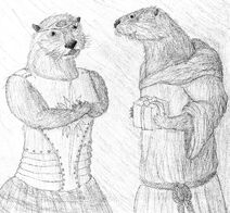 Pair of Otters for Niko Banks