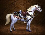 White battle steed