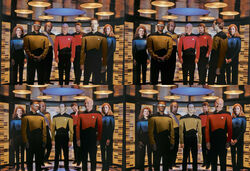 TNG Season 7 photo shoot