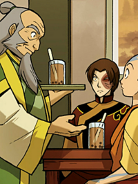 Iroh serving tapioca