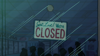 S1e5 closed sign