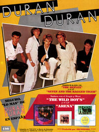Spain wikipedia advert duran duran