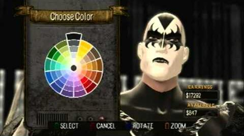 How to create Gene Simmons character in Guitar Hero