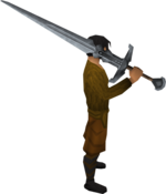 Steel 2h sword equipped