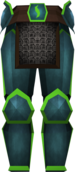 Guthix platelegs detail