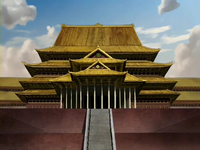 Earth Kingdom Palace main hall