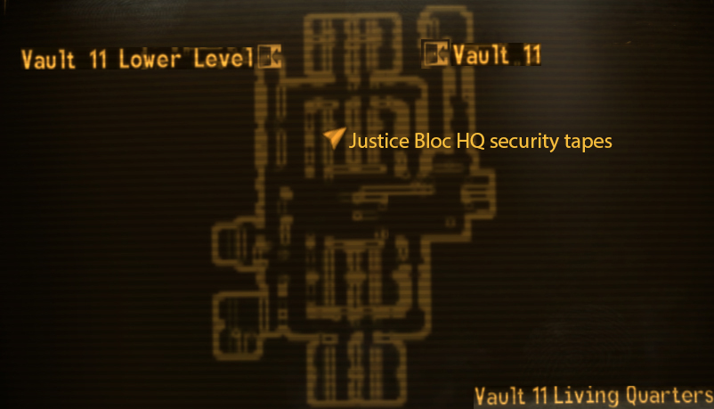 Vault 11 living quarters loc map