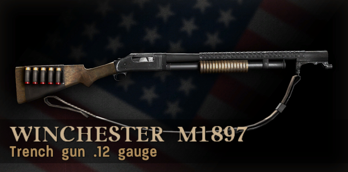 Winchester M1897 Trench Gun Menu Icon CoD3