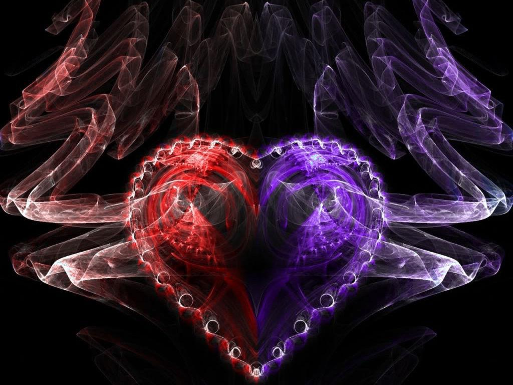 Purple And Black Hearts Wallpaper: Red Purple Heart Wallpaper Dhtt.jpg