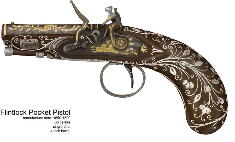 pirate gun drawing. Black Bedroom Furniture Sets. Home Design Ideas