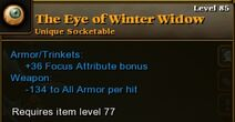 Eye Winter Widow 85