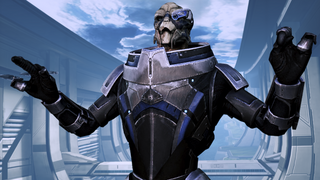 I&#39;m garrus vakarian, and this is now my favorite spot on the citadel