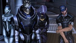 Synthesis funeral - edi, garrus, tali, joker