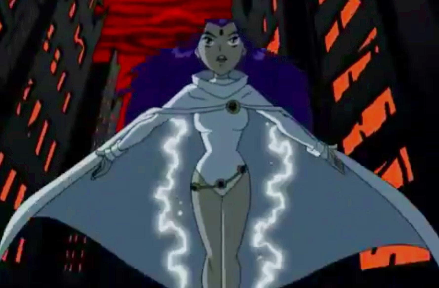 Raven white cloak
