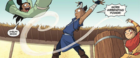 Sokka airbends Kaya